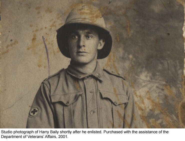 Harry Baily shortly after enlisting
