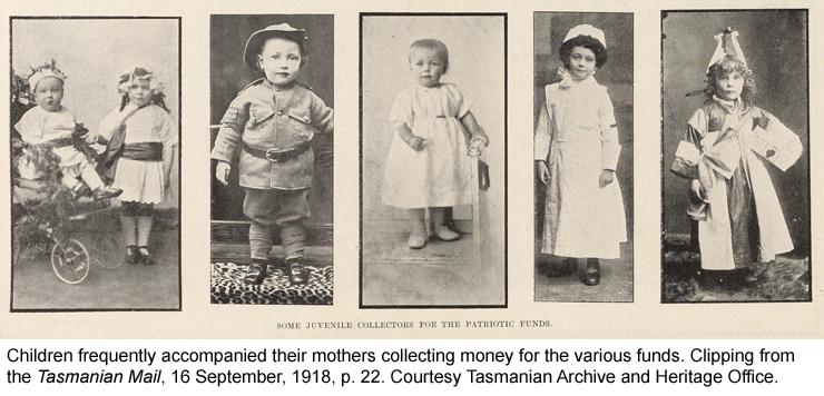 Children helping raise money for war funds
