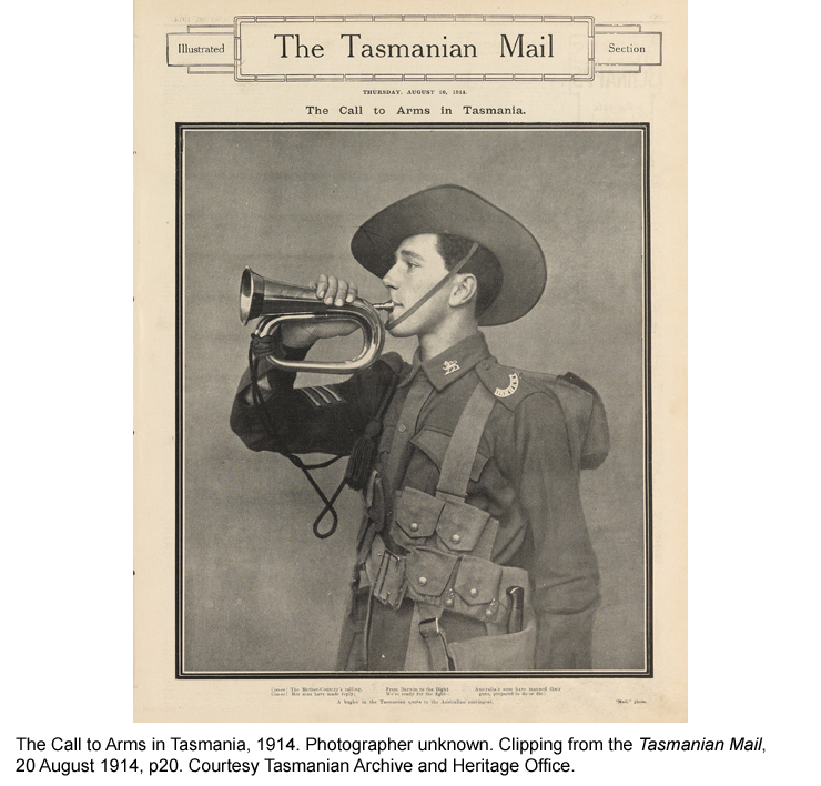 The Call to Arms in Tasmania, The Tasmanian Mail