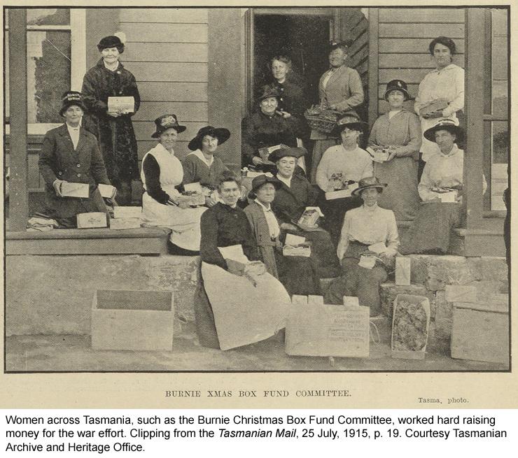 Women across Tasmana raising money for the war effort