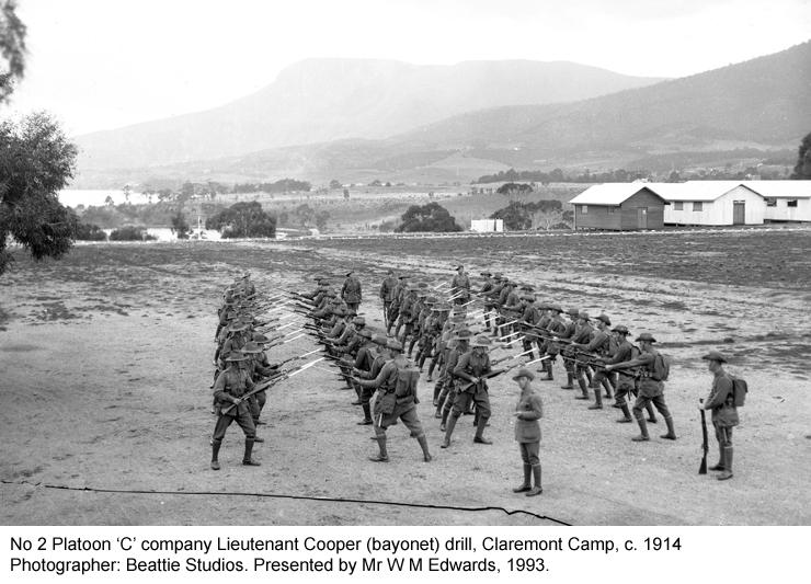 No 2 Platoon 'C' company bayonet drill