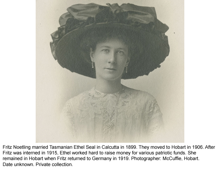 Tasmanian Ethel Seal, wife of Fritz Noetling