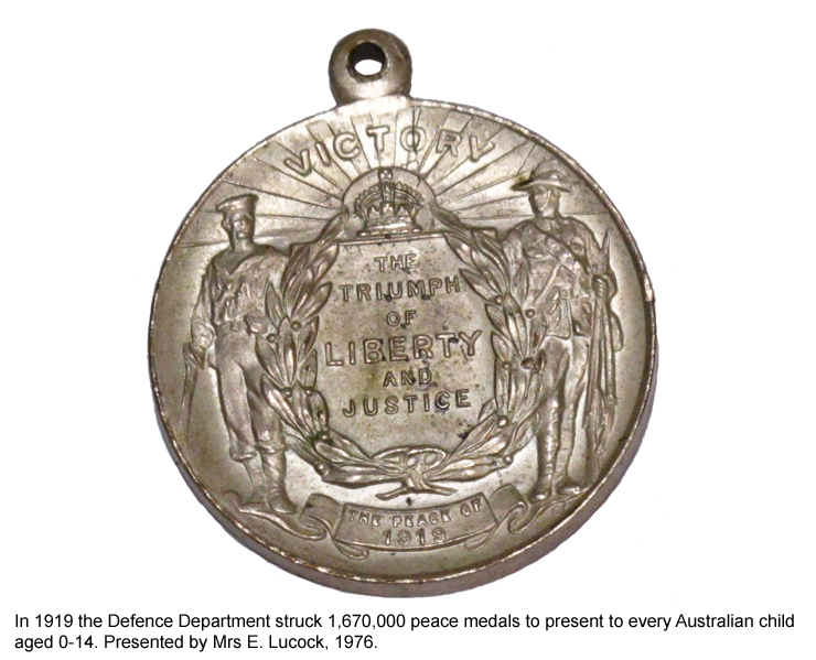 A peace medal from 1919