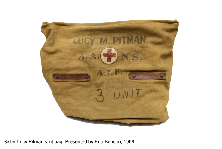 Sister Lucy Pitman's kit bag