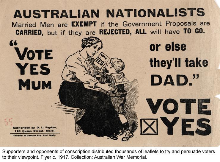 Pro-conscription flyer