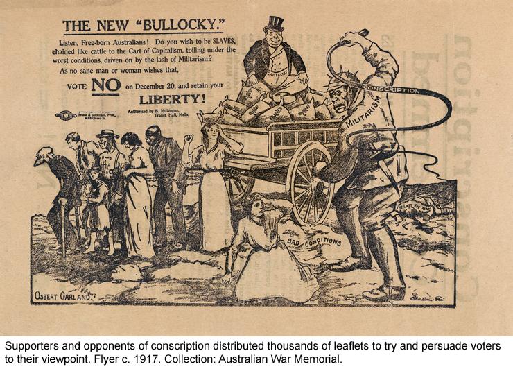 Anti-conscription flyer